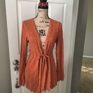 Tie-front  cardigan